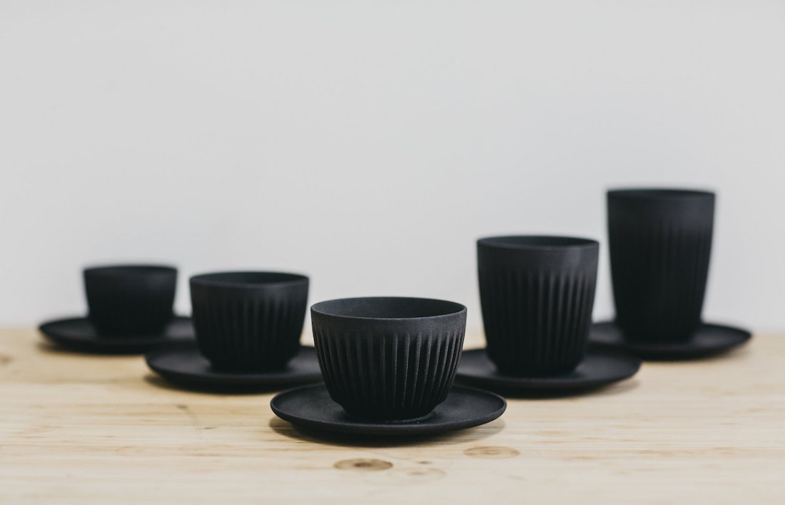 HuskeeCup is available in 6oz, 8oz and 12oz cups sizes, with a Universal Saucer that matches them all.