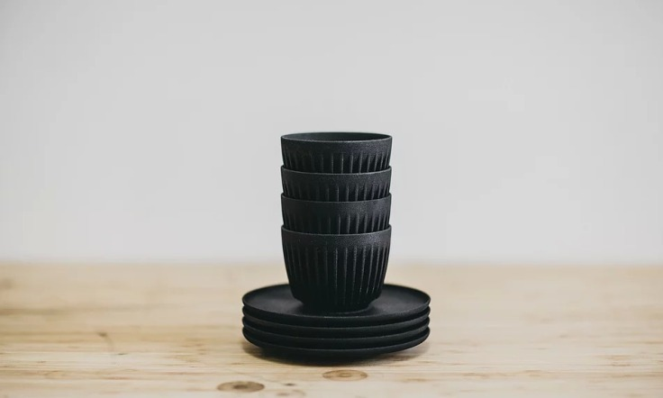 HuskeeCup stacks securely, allowing for more efficient storage, and less breakage! Each HuskeeCup nests perfectly inside our one-size-fits-all, Universal Saucer.
