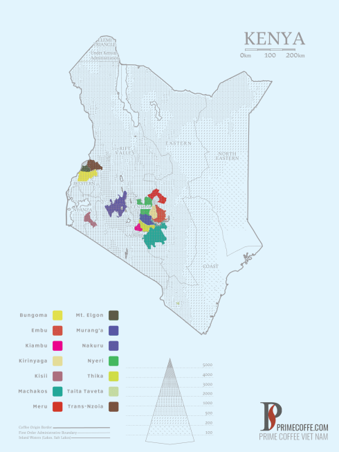 Map coffee in Kenya -Coffee Inside